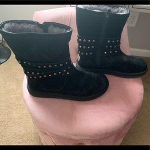 UGG Black Suede Clovis Boots